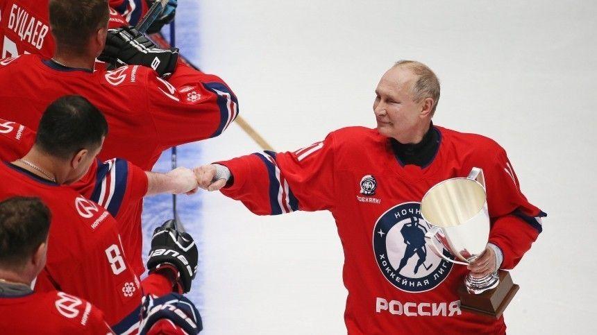 Восемь шайб! Как Путин принес победу команде в гала-матче Ночной хоккейной лиги