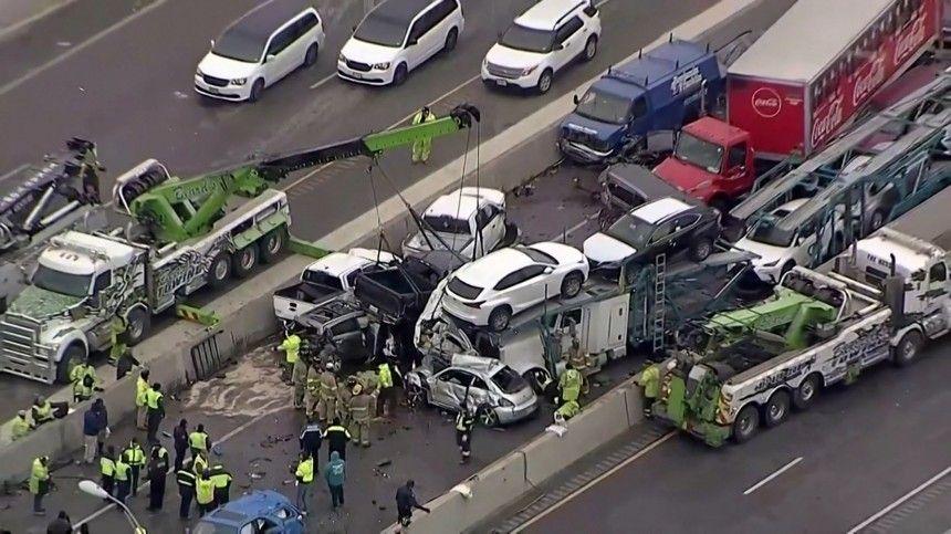 Число погибших в аварии с сотней автомобилей в США увеличилось до шести