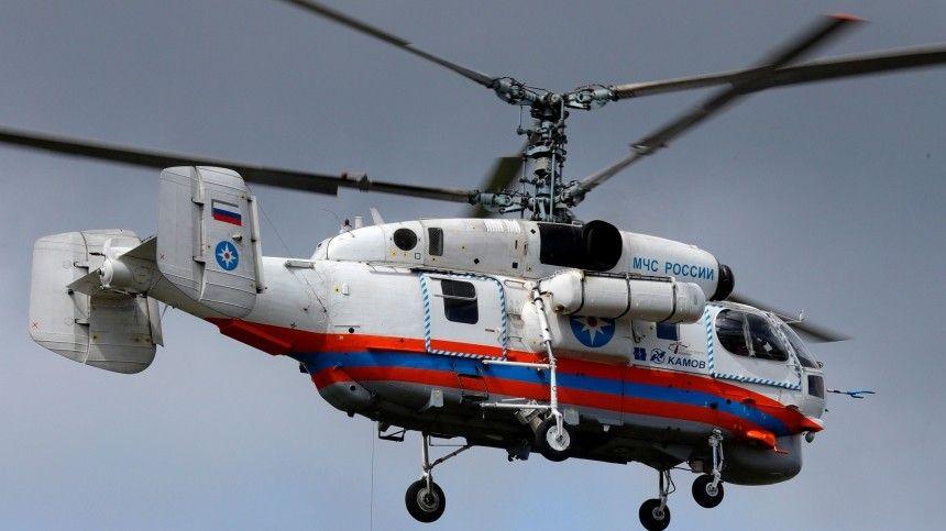 Видео с места падения вертолета МЧС под Калининградом