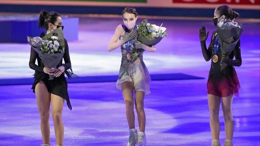 Российские фигуристки впервые в истории заняли весь пьедестал на ЧМ