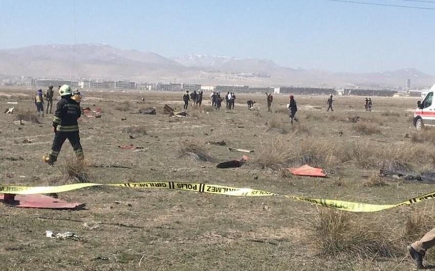 В Турции истребитель упал на город