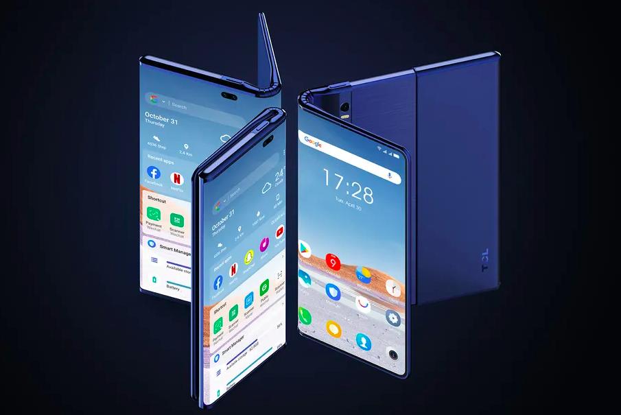TCL представила смартфон с растягивающимся и складным экраном