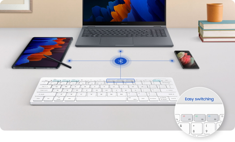 Samsung выпустила клавиатуру для работы на трех устройствах одновременно