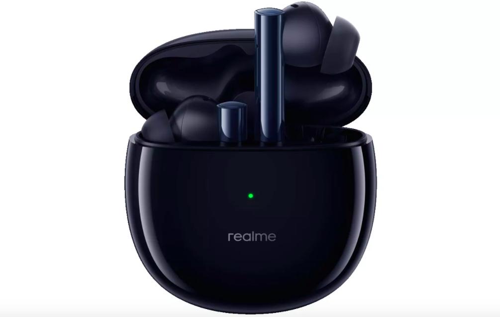 В России представлены бюджетные беспроводные наушники Realme с шумоподавлением