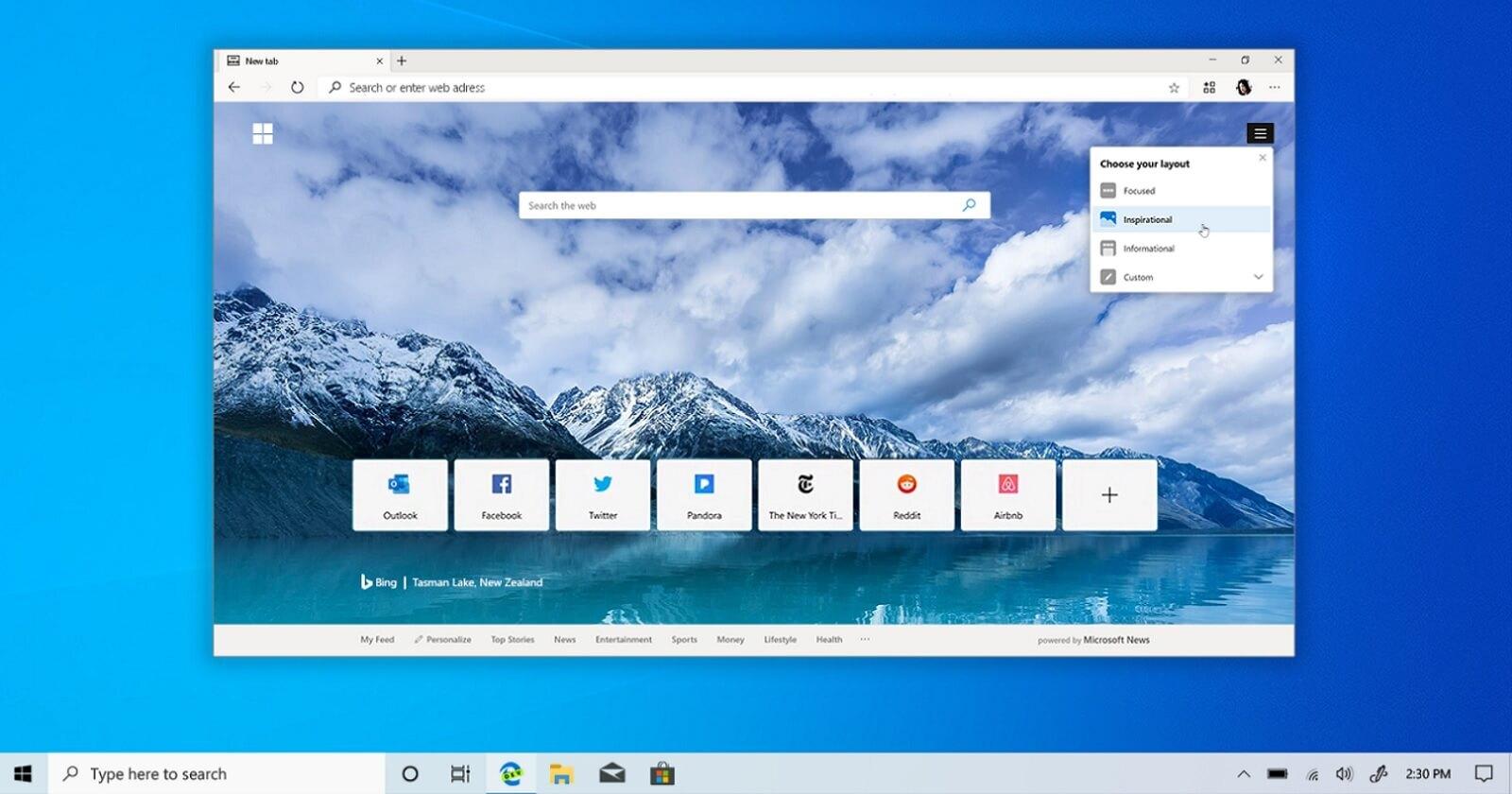Microsoft пообещала сделать браузер Edge «самым производительным» на Windows 10