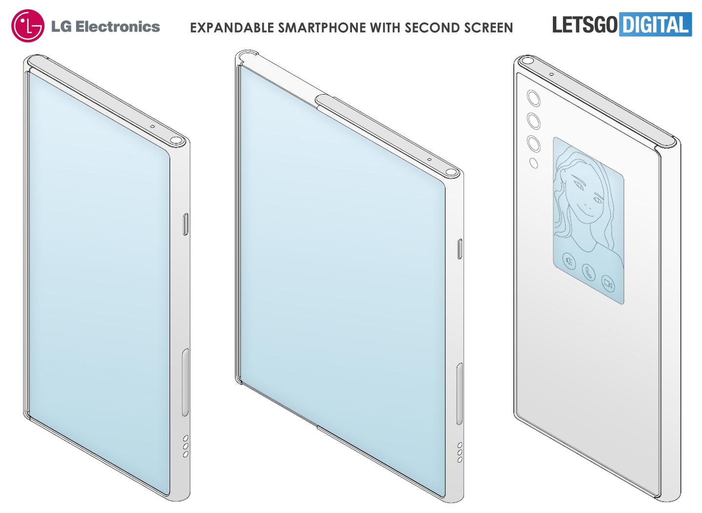 LG оснастила смартфон с экраном-рулоном дополнительным дисплеем