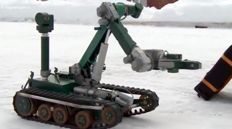 В России показали роботов Росгвардии для разминирования