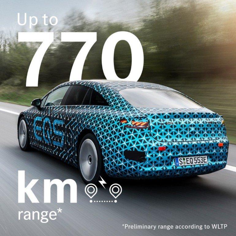770 км и 108 кВт·ч — флагманский электромобиль Mercedes-Benz официально рассекречен перед премьерой
