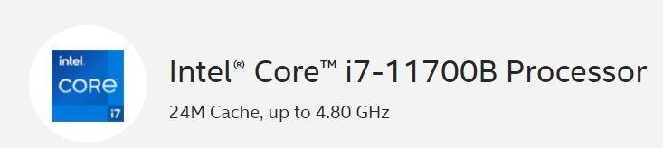 8 ядер, 16 потоков, 65 Вт и частота до 5,3 ГГц. У Intel появился мощный процессор Core i7-11700B для моноблоков