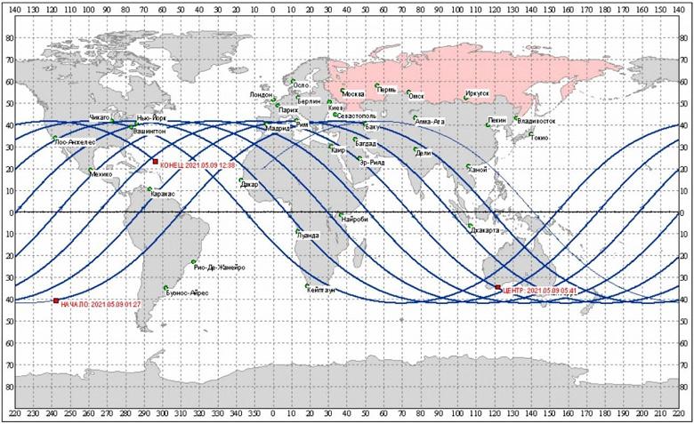 Место падения неуправляемой китайской ракеты уточняется: Роскосмос показал карту