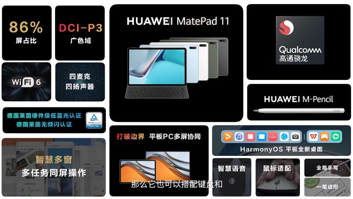 Экран 2К, 120 Гц, Snapdragon 865, 7250 мАч. Huawei MatePad 11 – еще один планшет Huawei на платформе Qualcomm и с HarmonyOS 2.0
