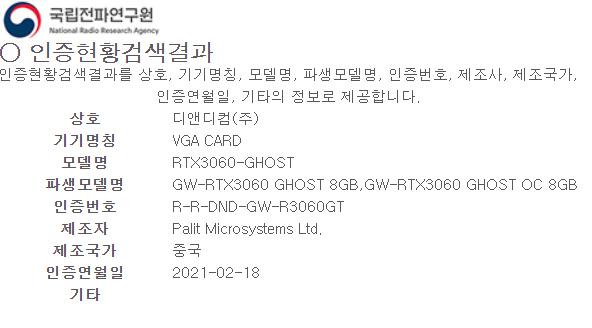 GeForce RTX 3060 может лишиться трети своей памяти в одной из версий. Palit готовит адаптер с 8 ГБ?