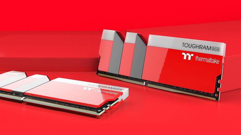Подсветкой модулей памяти в комплектах Thermaltake ToughRAM RGB Metallic Gold и Racing Red можно управлять с помощью виртуального помощника Amazon Alexa