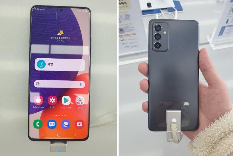 Samsung Galaxy A82 оказался в руках пользователя. Опубликованы живые фото