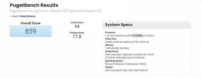 Новый процессор Intel с частотой ниже, чем у старого. Core i7-1195G7 впервые засветился в Сети