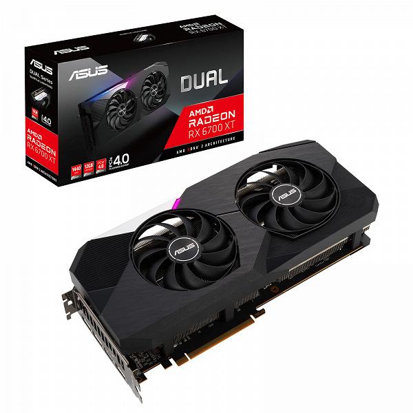 Компания Asus дополнила серии видеокарт ROG Strix, TUF Gaming и Dual моделями на базе AMD Radeon RX 6700 XT