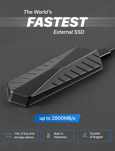 Представлен самый быстрый внешний SSD в мире. Он уже стал хитом на Indeigogo