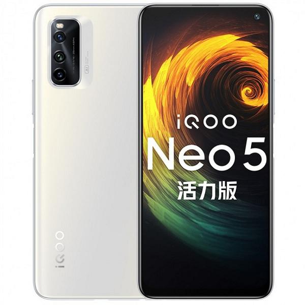 144 Гц, Snapdragon 870, стереодинамики, NFC и использование флеш-памяти UFS 3.1 в качестве ОЗУ. Представлен смартфон Vivo iQOO Neo5 Lite