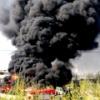 На стройке в омском микрорайоне «Прибрежный» произошел пожар