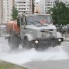 Из-за аномальной жары омские дороги охлаждают водой