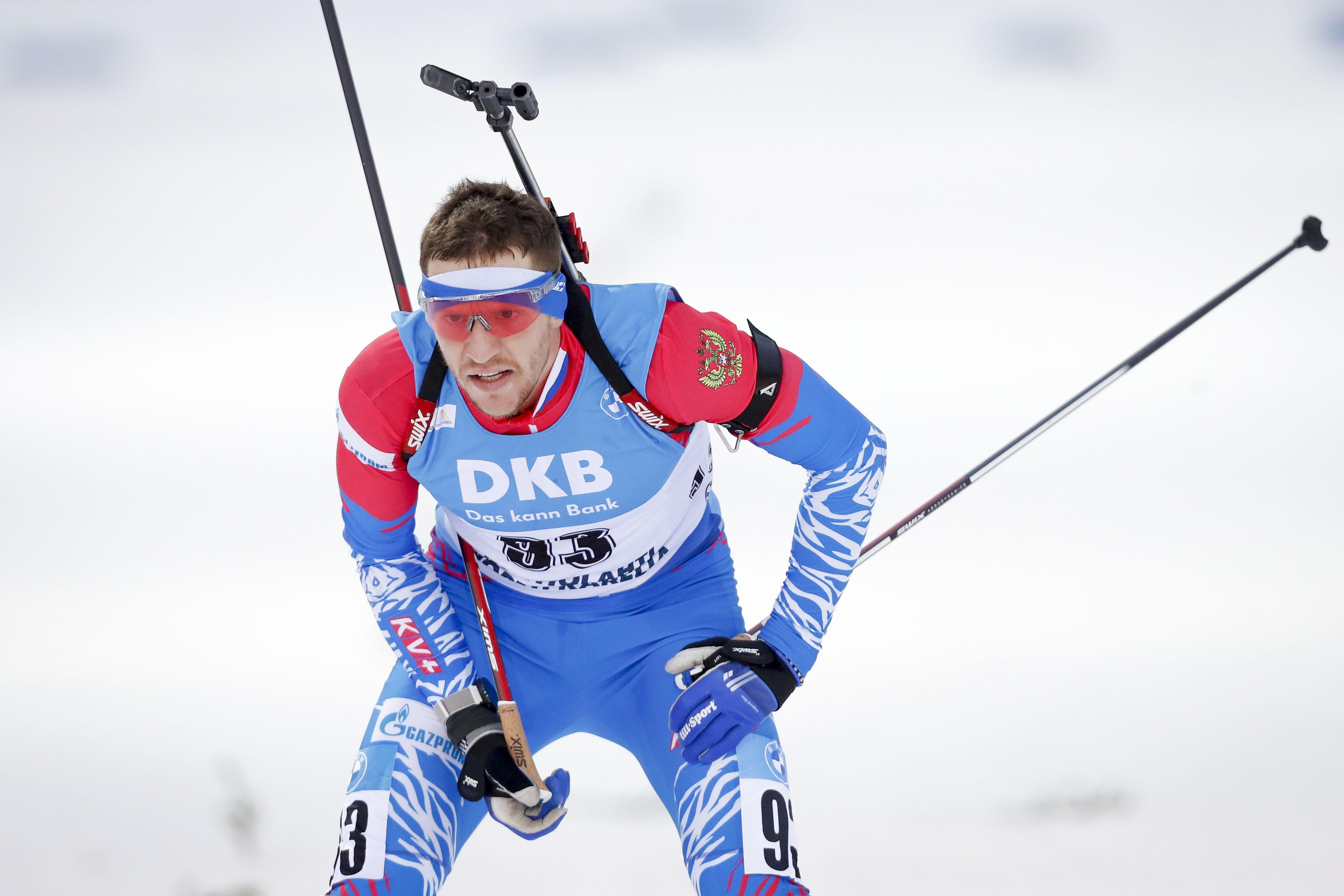 Сучилова лишили третьего места в гонке преследования на чемпионате России по биатлону
