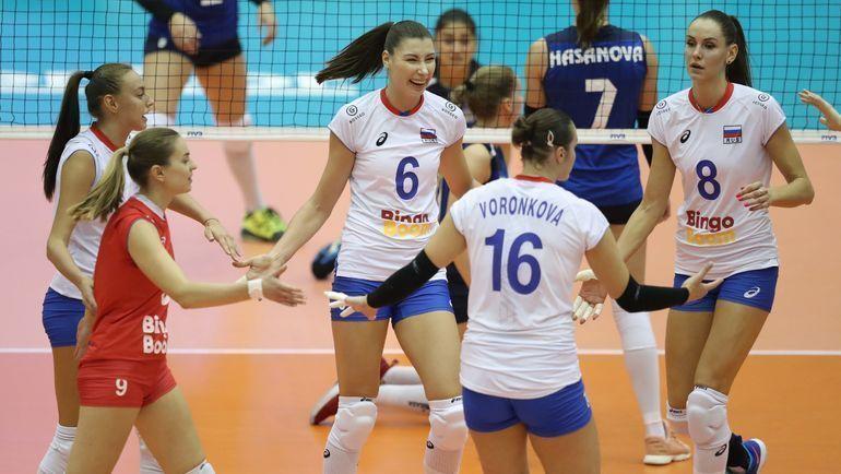 Волейбол, Лига наций, женщины, Россия - Доминиканская Республика, Прямая текстовая онлайн трансляция