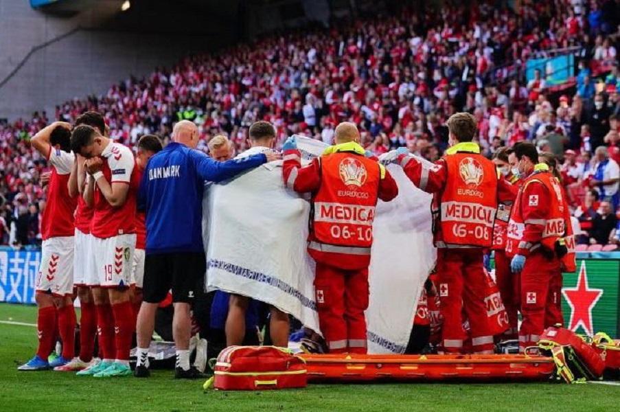 УЕФА: матч Финляндия — Дания возобновится в 21:30 мск