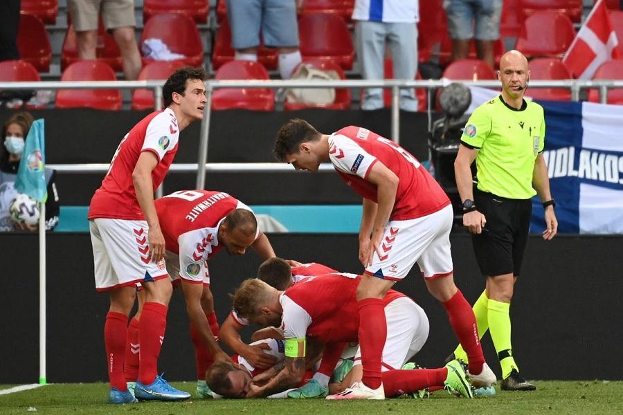 Футбольная федерация Дании обнародовала обновлённую информацию о состоянии Эриксена