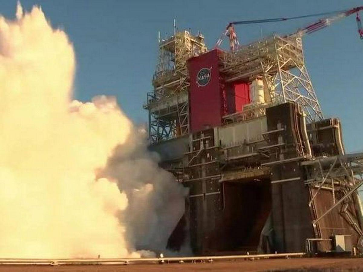 Испытание самой мощной в мире ракеты засняли на видео