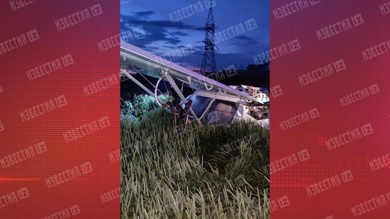 Легкомоторный самолет совершил жесткую посадку под Ростовом — фото