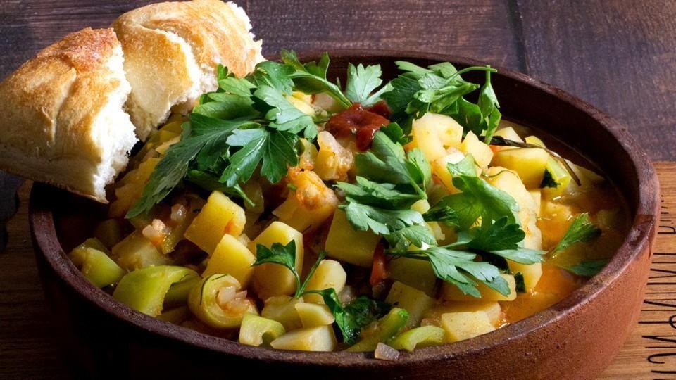 Готовим овощной чахохбили — пошаговый рецепт с фото