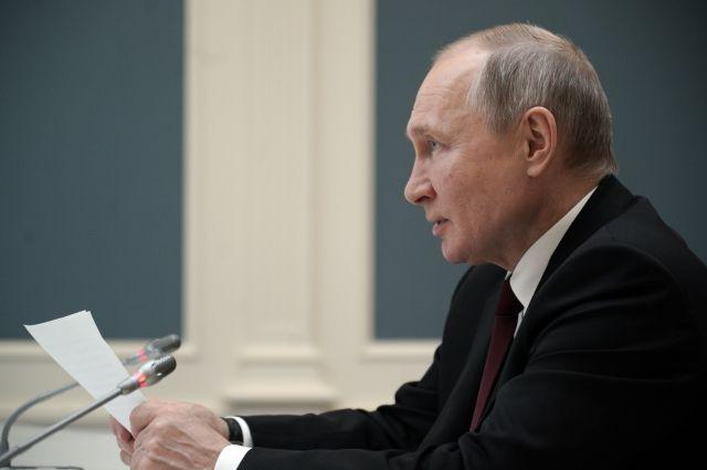 Путин поздравил Росгвардию с профессиональным праздником