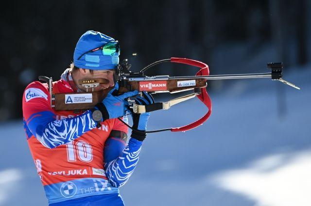 Латыпов выиграл гонку преследования на ЧР по биатлону