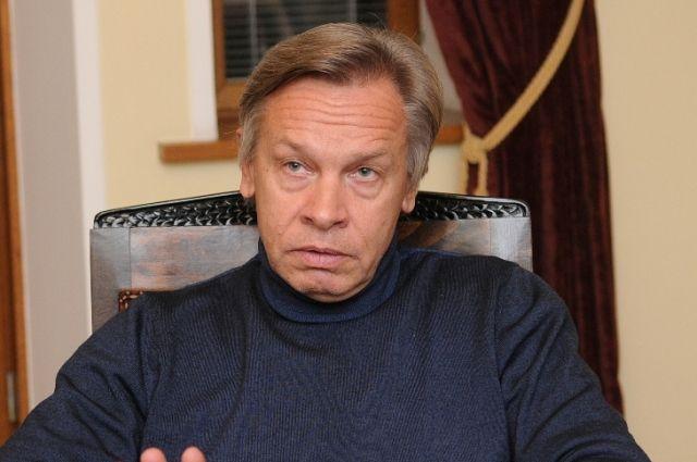 Пушков считает маловероятным военный конфликт России с Украиной