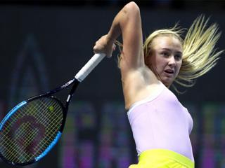 Анастасия Потапова вышла во второй круг турнира в Дубае