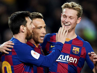 Дубль Месси помог 'Барселоне' разгромить 'Хетафе'
