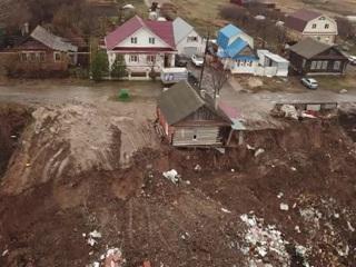 Обрушился огромный пласт земли: ЧП в Нижегородской области