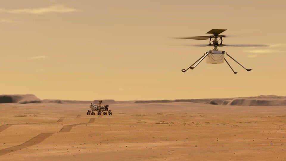 Первые летные испытания вертолета NASA начались на Марсе