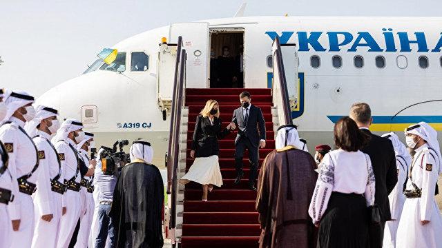 Президент України (Украина): интервью президента Украины Владимира Зеленского катарским СМИ