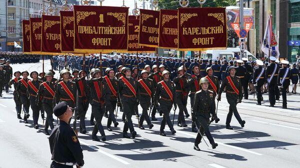 В Калининграде прошел военный парад в честь Дня Победы