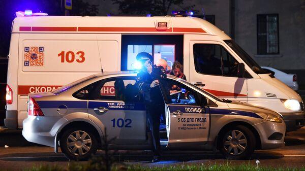 В Москве полицейский сбил насмерть пешехода