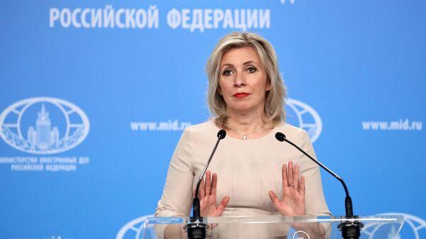 Захарова назвала реакцию Запада на инцидент с севшим в Минске самолетом Ryanair шокирующей