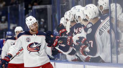 Шайба Григоренко не спасла «Коламбус» от поражения «Тампе» в матче НХЛ