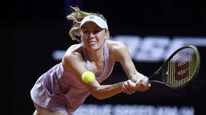 Александрова обыграла Бенчич и пробилась в четвертьфинал турнира WTA в Штутгарте
