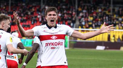 Соболев забил свой 13-й мяч в текущем сезоне РПЛ и сравнялся по голам с Ларссоном