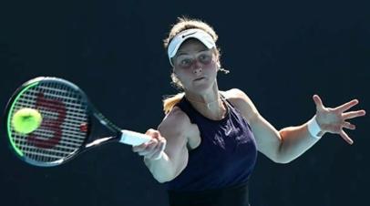 Самсонова обыграла Гатто-Монтиконе в первом круге турнира WTA в Парме