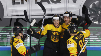 Германия разгромила Норвегию на ЧМ по хоккею