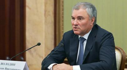 Володин заявил, что Россия может поднять в ПАСЕ вопрос регулирования в интернете