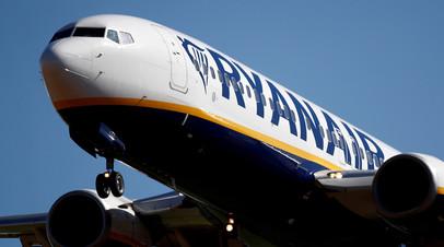 Экстренно севший в Минске самолёт Ryanair прилетел в Вильнюс
