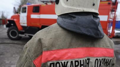 На бывшей птицефабрике в Подмосковье произошёл пожар